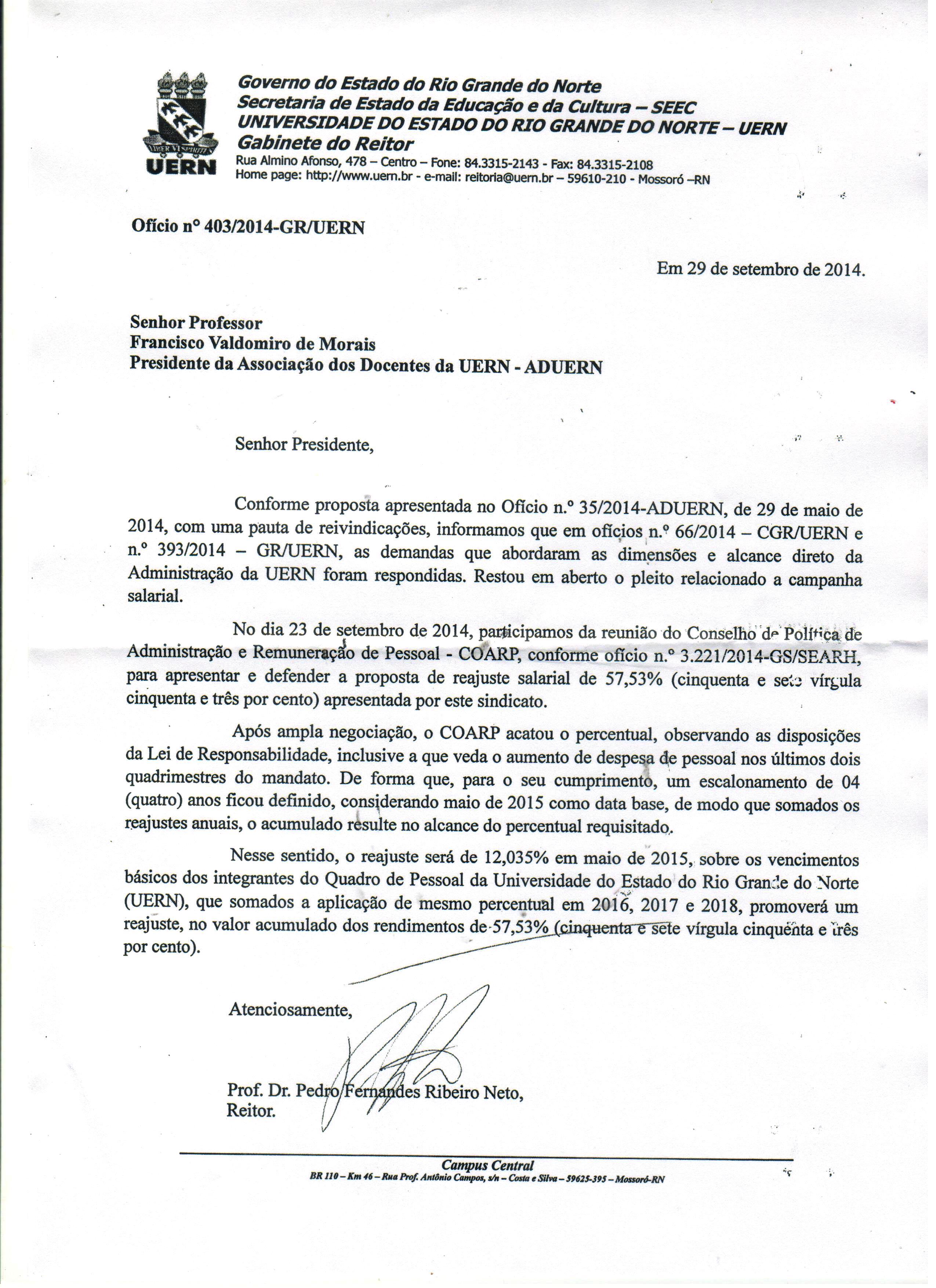 Documento Reitor-Governo 001