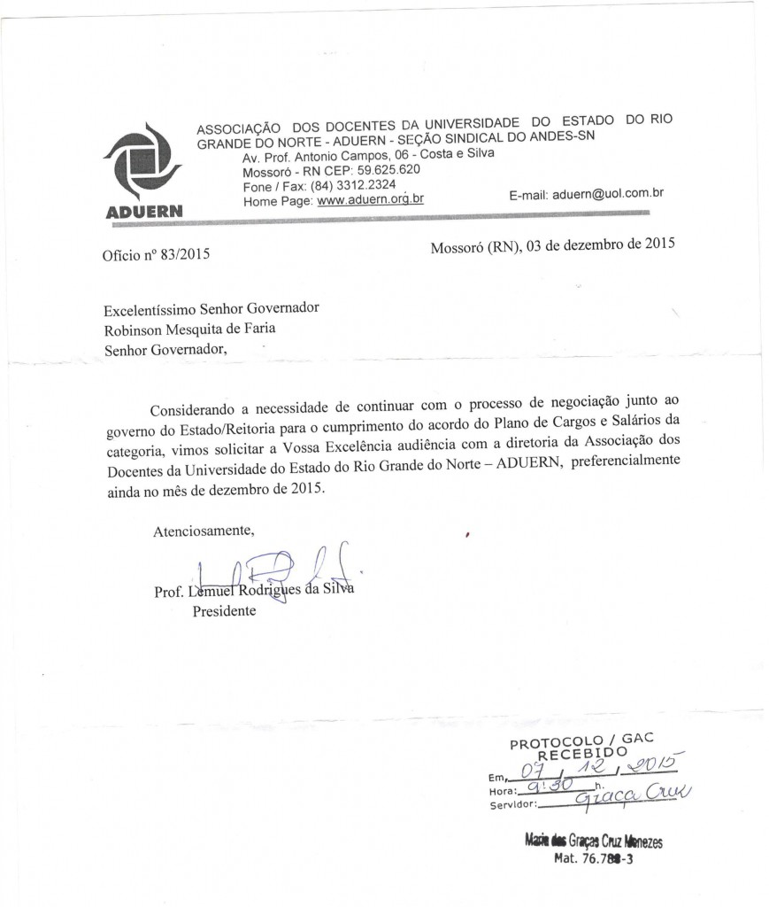 DOCUMENTO 1 GOVERNO PROTOCOLO